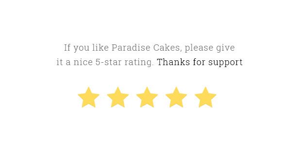 Paradise Cakes - Sweet eCommerce Landing Page